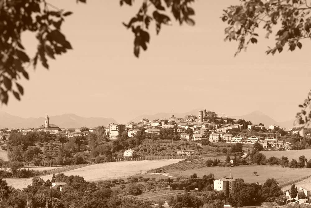 View of Mondolfo from Santa Vittoria