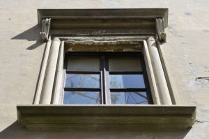 Window of Giraldi Della Rovere Palace
