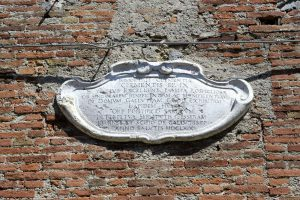 Stone slab at Palazzo Gallucci