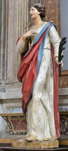 Statue of St Justine, 17th century