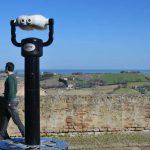 Veduta dal Belvedere del Castello con panorama sull'Adriatico