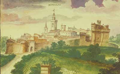 View of the walled town, G. Cialdieri, 1632, watercolour